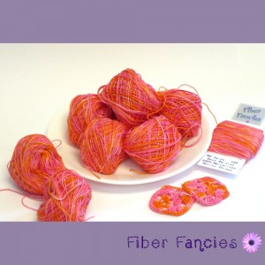 Hand Dyed Crochet Thread - Cotton Candy