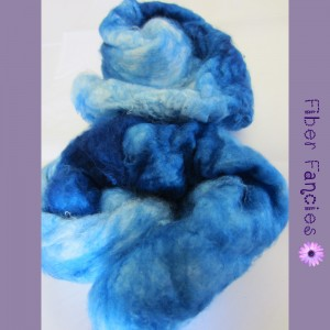 Hand Painted Silk Cap - Crystal Blue