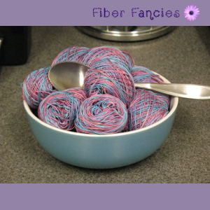 Hand Painted Crochet Thread - Raspberry Frost