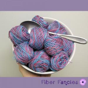 Hand Painted Crochet Thread - Raspberry Frost