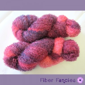 Hand Dyed Mohair Boucle Yarn - Wine & Berries