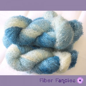 Hand Dyed Mohair Boucle Yarn - Winter Frost